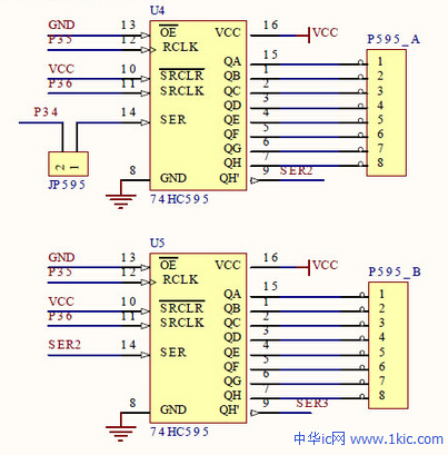 74HC595引脚图