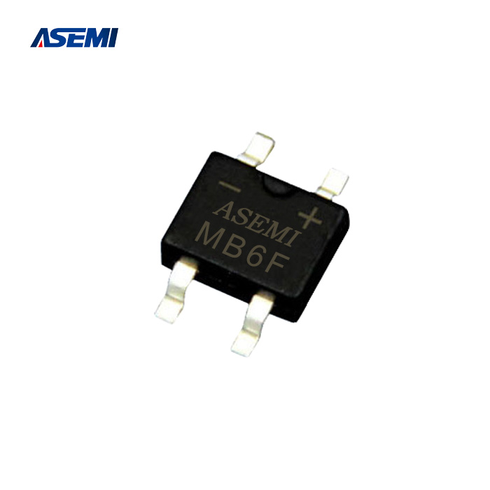 ASEMI全新LED专用 MB6F 贴片桥可代替 UMB16F 封装同为 MBF-4