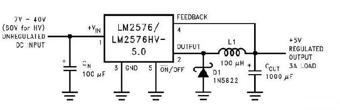 dc-dc降压电路图